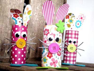 Ils ne sont pas craquants ces petits lapinous de #Pâques. De quoi donner une seconde vie à nos chutes de papier et s'offrir une bonne tranche de rigolade avec nos enfants !