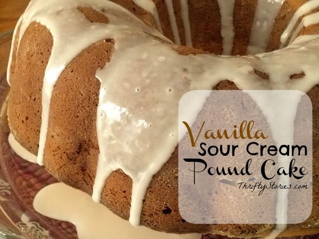 Cake Recipes With Pan: Vanilla Sour Cream Pound Cake