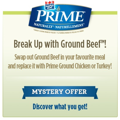 Hey #Canada Its mystery coupon time! Visit us on facebook and you could get a #coupon to save $1, $2, or even a FREE pack of Maple Leaf Prime Ground #Chicken or #Turkey!