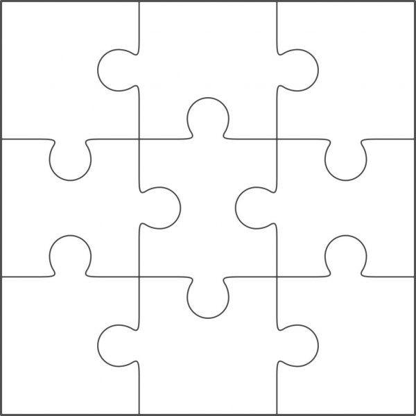 Modele Vierge De Jigsaw Puzzle 3 X 3 Illustration Puzzle Piece Template Puzzle Puzzle Pieces