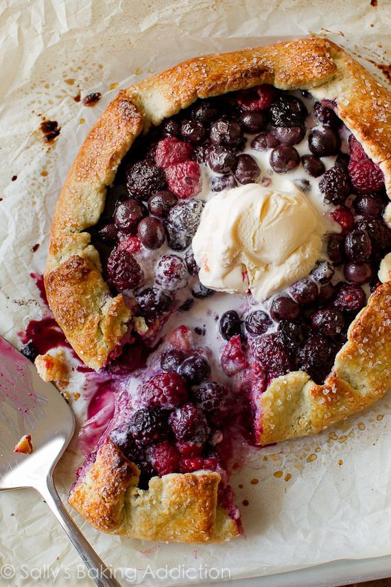 Mixed Berry Galette with Buttermilk Cornmeal Crust. | Sally's Baking Addiction | Bloglovin'