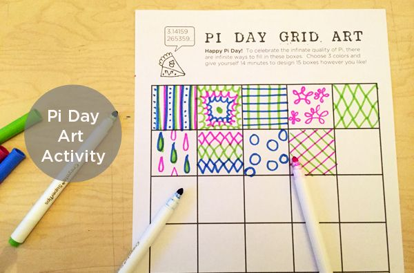 This fun and easy Pi Day Art Project will get your creativity flowing, and it's a fun way to build enthusiasm around Pi Day 2015 | TinkerLab.com