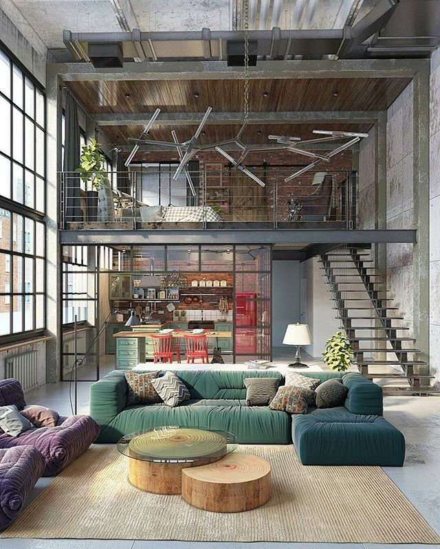 Would you live here?!😍 Industrial Loft by Golovach Tatiana @dopearchitect