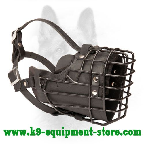 K9 Wire Basket Dog Muzzle with Comfy Covering