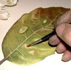 How to paint leaves, free watercolor art lesson........site offers multiple tutorials with different mediums