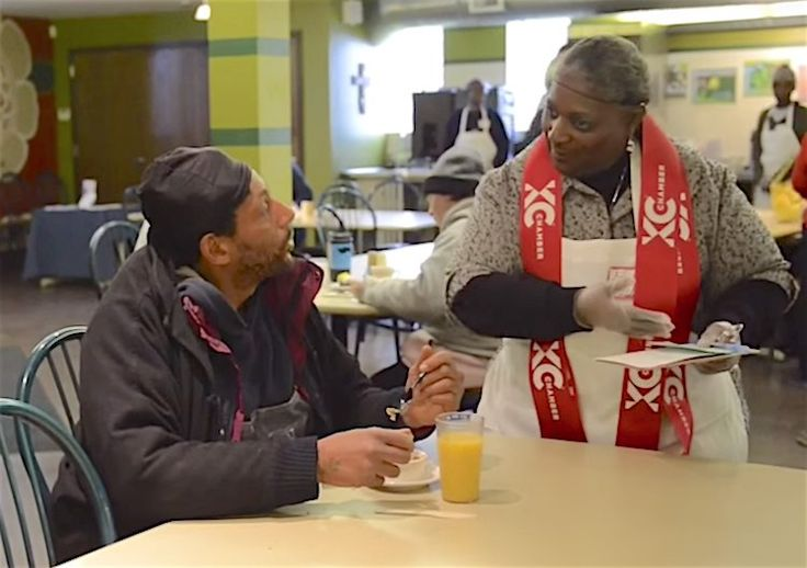 This Kansas City soup kitchen masquerades as a restaurant to serve dignity– alongside healthy meals– to the homeless.
