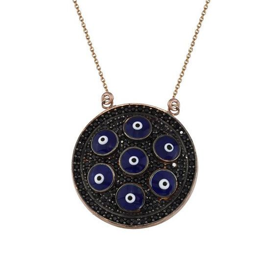 EXPRESS WorldwideBlack Dİamond Enamel Evil Eye by JeweeDiamond, $49.90