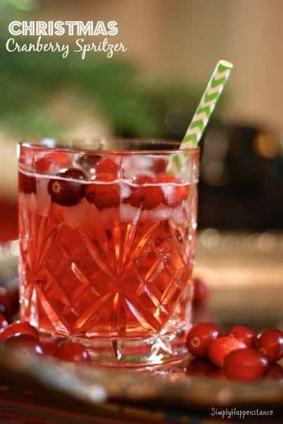 Christmas Cranberry Spritzer.