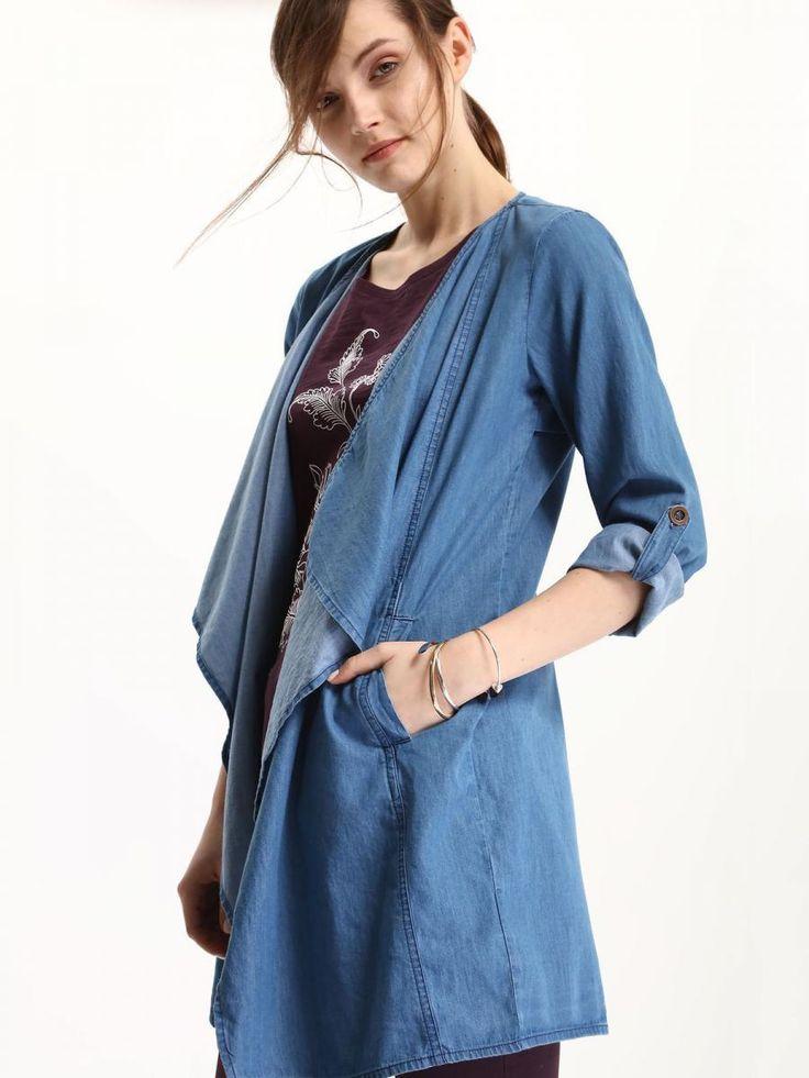 Top Secret Kabát dámský jeans Dámský kabátek z kolekce TOP SECRET je vyroben z příjemného a lehkého materiálu. Má jednoduchý střih bez zapínání. Skvěle se hodí do jarního počasí k jeansům Kolekce jaro/léto 2017 1279 …