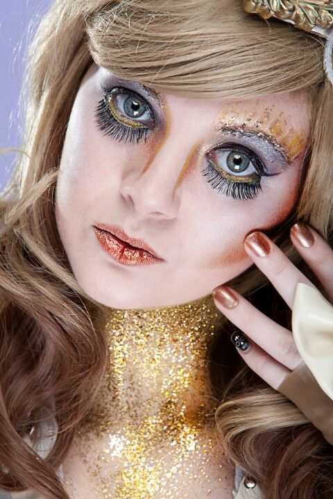 Gothic glittery madness Photography by Shawn bishop model is Amber skyline make up by Joanna strange