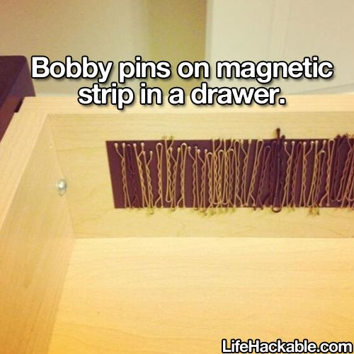 This. Is. Genius! - bobby pin organizing #DIY