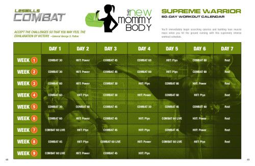 Les Mills Combat Supreme Warrior schedule