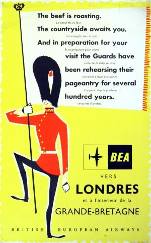 London by BEA, 1950s - original vintage poster listed on AntikBar.co.uk