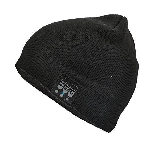 Audio Council Bluetooth Beanie Knit Cap with built in Wireless Stereo Speakers and Microphone for Hands free calls Outdoor Sports Winter Skateboard Running Activities (Black)