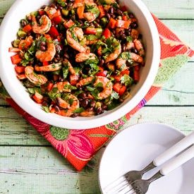 Shrimp and Black Bean Salad with Cilantro, Cumin, and Lime (Gluten-Fr ...