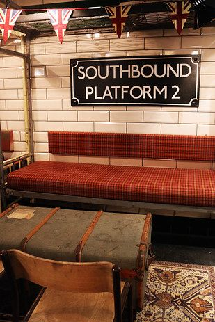 There Is A Secret Underground Bar In London That Contains An Entire Tube Carriage