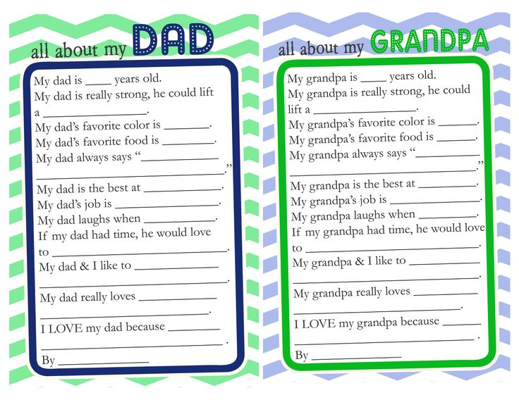 This is a picture of Father's Day Questionnaire Free Printable with third grade