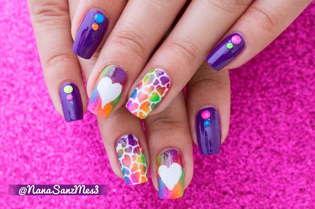 A Colorful Rainbow of Hearts