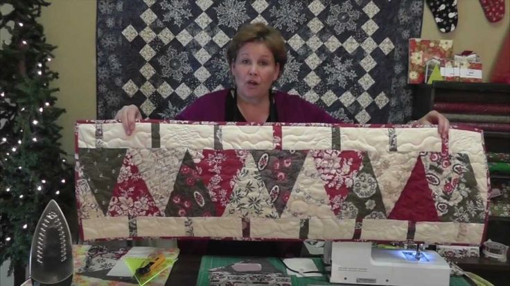 Make a Christmas Table Runner Using the Large Wedge Tool - Missouri Star Quilt Company Tutorial.