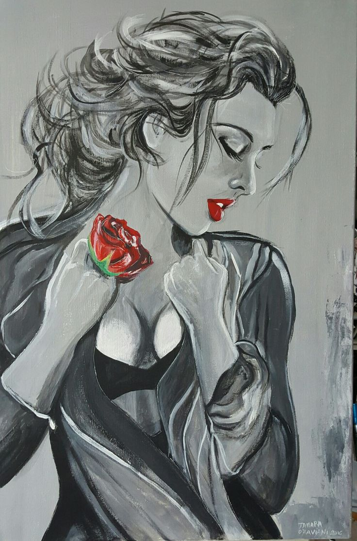 #picture #art #canvas #tela #pictur #coloriacrilici #colors #color #portrait #model #manolibera #artisti #red #magenta 🎨🎨🎨🖌🖌🖌👍