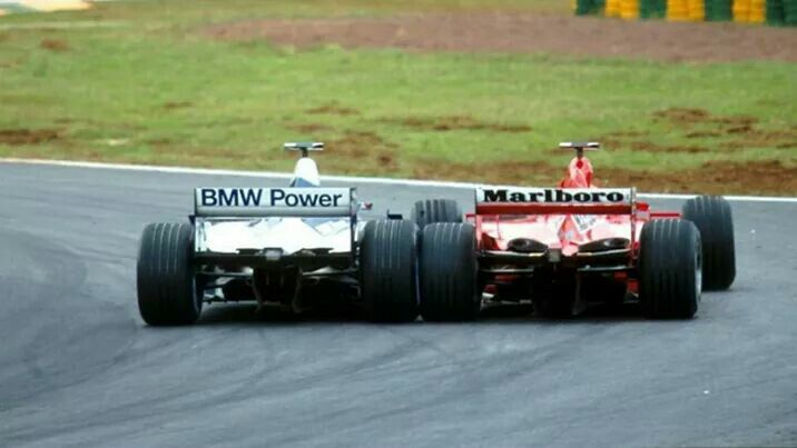 #6 Juan Pablo Montoya...BMW Williams F1 Team...Williams FW23...Motor BMW P80 V10 3.0...#1 Michael Schumacher...Scuderia Ferrari Marlboro...Ferrari F2001...Motor Ferrari 050 V10 3.0...GP Brasil 2001