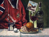 A portrait of a Munsterman. Oils on panel