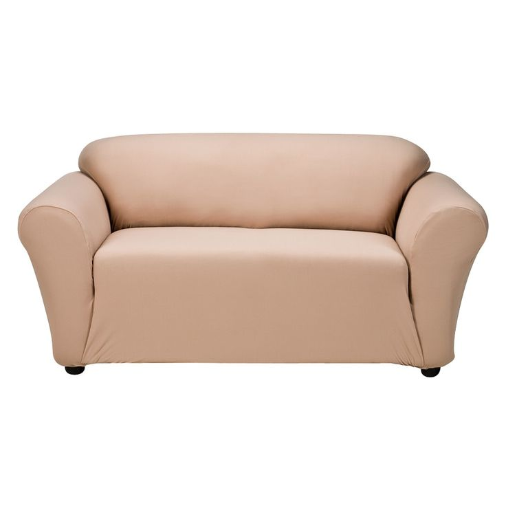 Casual Home Stretch Twill Loveseat Slipcover - Tan