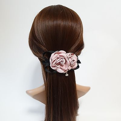 Two Rose Flowers French Hair Barrettes  #veryshine #hairbarrette #frenchbarrette #rose #hairbarrette