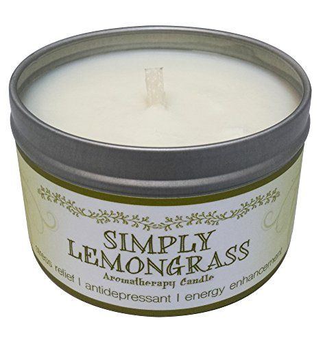 Our Own Candle Company Soy Wax Aromatherapy Scented Candle Simply Lemongrass 6.5 Ounce