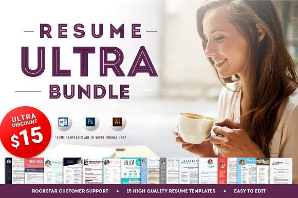 15 Resume Templates - Ultra Bundle by Resume Templates on @creativemarket