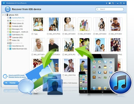 50% Off - Wondershare Dr.Fone. Recover Data from iPhone 5, iPhone 4S, iPhone 4 GSM, iPhone 3GS, New iPad, iPad 1/2, iPod Touch 4. Click to get Coupon Code.