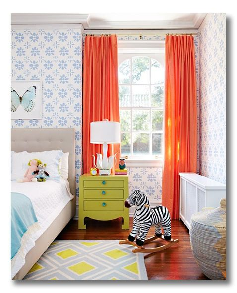 child's room: gorgeous contrast that still feels calmChild Room, Little Girls, Colors Combos, Room Colors, Kids Room, Kidsroom, Girls Room, Kid Rooms, Bright Colors