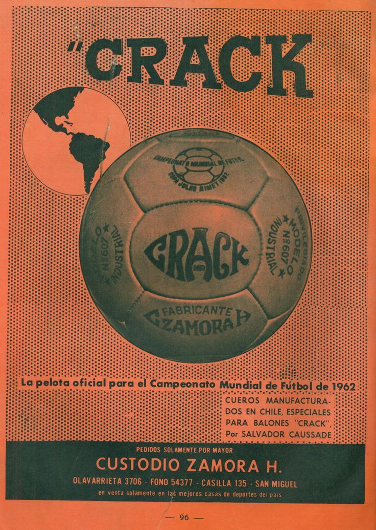 CRACK BALL WORLD CUP CHILE 1962