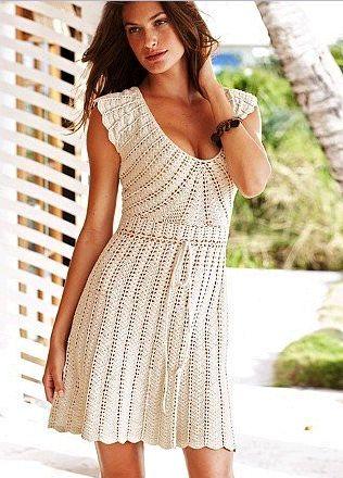 vestido de crochê   Gráficos e Receitas