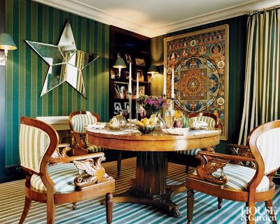 Star And Sunburst Motifs Get The Spotlight In This Collection Of Cheery Interiors From AD Archive Find Pin More On Dining Rooms