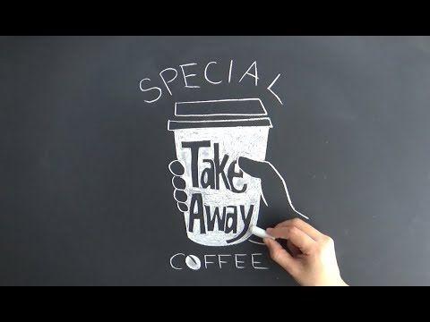 看板にも家カフェにも使えるチョークアート(黒板アートchalkart,chalklettering)