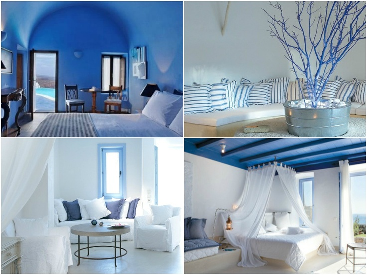 WW Greece: Mimic the sky and ocean and blur lines of indoor vs. outdoor.