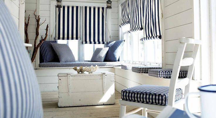 Martieme look!. Geweldig idee voor raamdecoratie in maritieme stijl. www.prestigious.co.uk