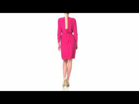 1 Magenta and Yellow Reversible Double Face Dress - Laura Hincu Shop