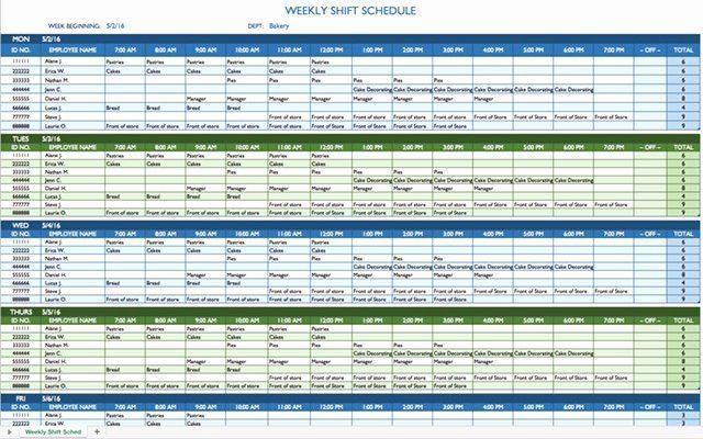 24 7 Shift Schedule Template Beautiful Free Work Schedule