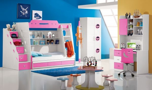 rosafarbenes etagenbett ocean f r kinder und jugendliche. Black Bedroom Furniture Sets. Home Design Ideas