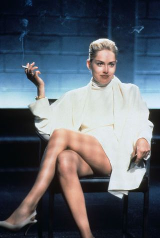 Sharon Stone's iconic scene in the 1992 'Basic Instinct' movie. We're taking a look back at the history of nudity on BAZAAR.com this week, see the 21 boundary-breaking nude moments here: