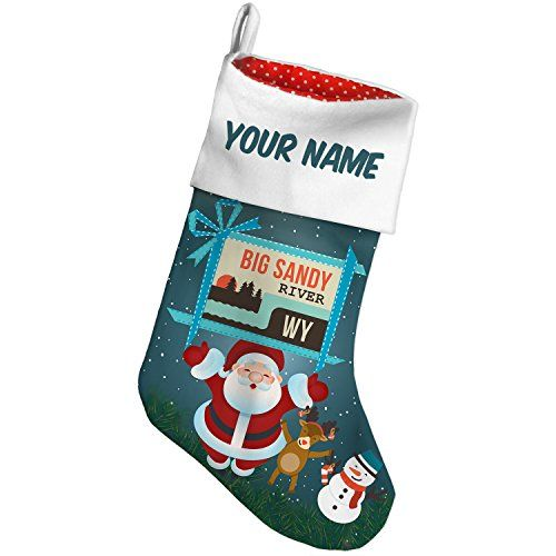 Christmas Stocking USA Rivers Big Sandy River  Wyoming Xmas night NEONBLOND >>> More info could be found at the image url. #XmasStockingsHolders