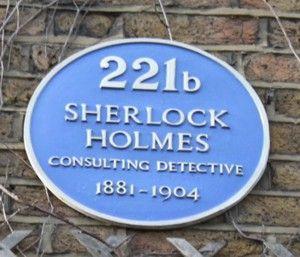 Blue plaque for Sherlock Holmes in Baker Street !