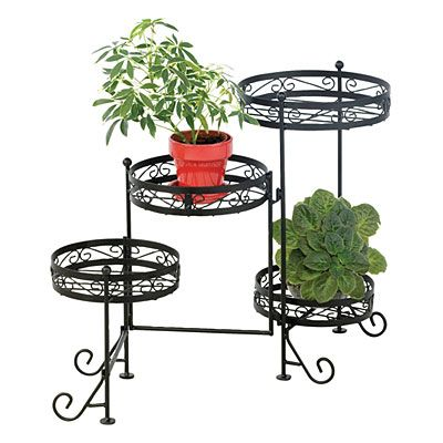 Village green 4 tier metal plant stand at big lots home living pinterest metals plants - Tiered metal plant stand ...
