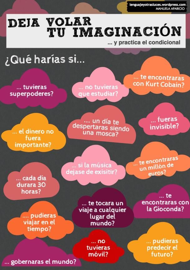 Juego tablero para practicar el condicional. Actividad ELE ✿ Spanish Learning/ Teaching Spanish / Spanish Language / Spanish vocabulary / Spoken Spanish / More fun Spanish Resources at espanolautomatico... ✿ Share it with people who are serious about learning Spanish!