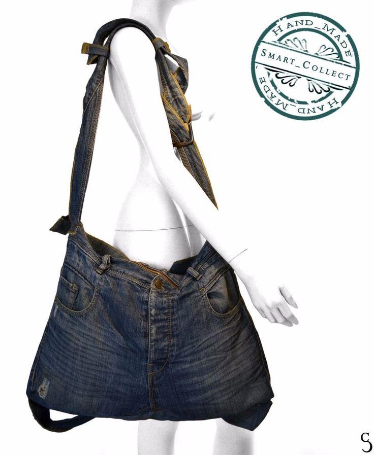 Handmade Jean Unisex and Unique Backpack and Shoulder Bag #SmartCollectHandmade #BackpackShoulderBag