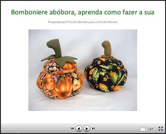 Passo-a-passo de bomboniere abóbora, para enfeitar o Halloween | Vila do Artesão