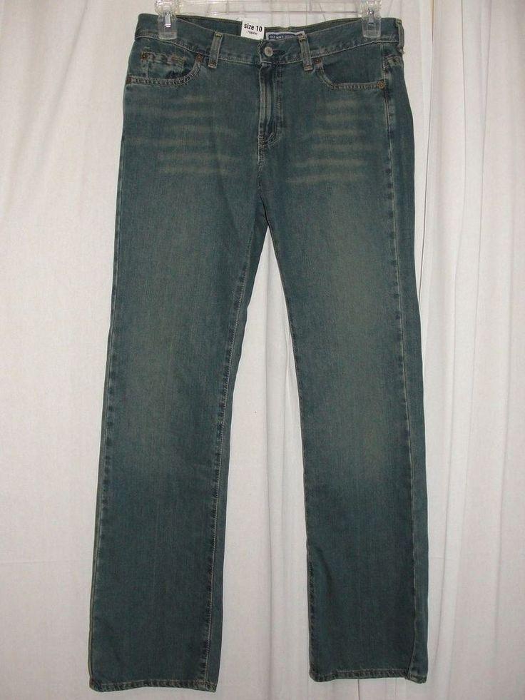 NEW Old Navy Womens Jeans Blue Ultra Low Waist Blue Boot Cut Size 10 Regular #OldNavy #BootCut