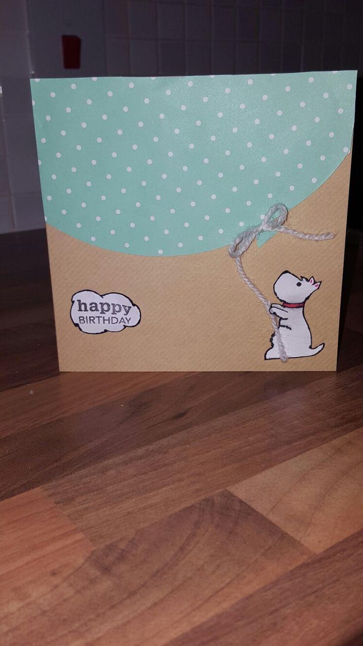 Cute westie birthday card
